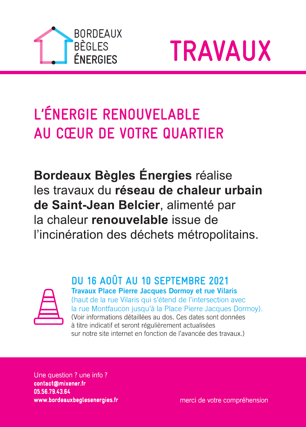 Flyer informations travaux RECTO - PHASE 2